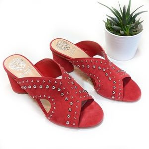 • vince camuto • studded red mule